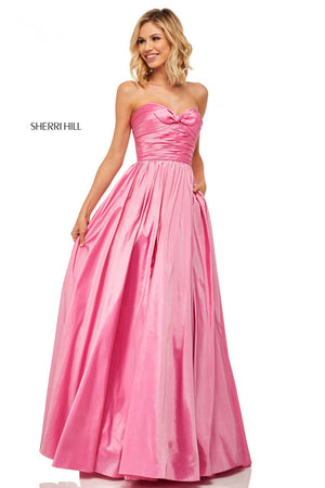 Sherri Hill 52833 prom dress images.  Sherri Hill 52833 is available in these colors: Navy, Lilac, Red, Bright Pink, Yellow, Berry.