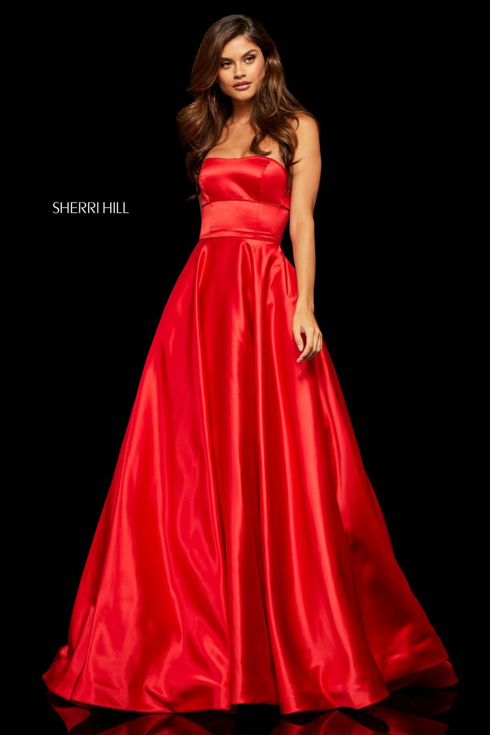 Sherri Hill 52924 prom dress images.  Sherri Hill 52924 is available in these colors: Fuchsia, Lilac, Light Blue, Yellow, Ivory, Emerald, Rose, Red, Mocha, Royal.