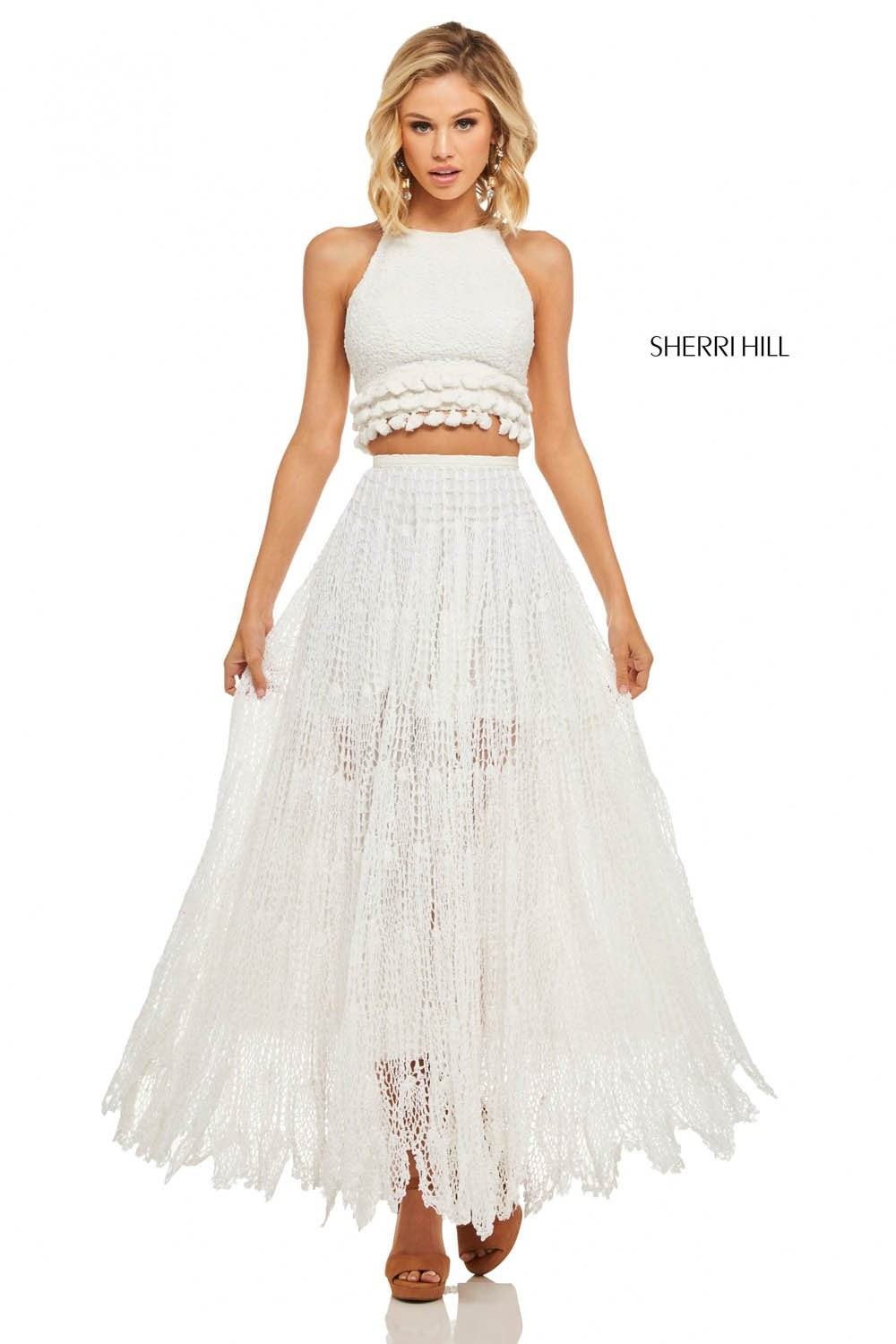 Sherri Hill 52928 prom dress images.  Sherri Hill 52928 is available in these colors: Ivory.
