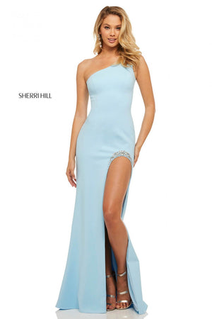 Sherri Hill 52936 prom dress images.  Sherri Hill 52936 is available in these colors: Red, Light Blue, Ivory, Black, Candy Pink, Yellow.