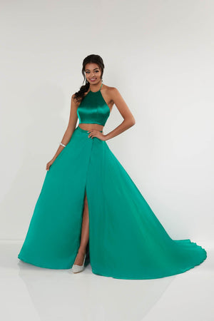 Studio 17 12705 prom dress images.  Studio 17 12705 is available in these colors: Black, Emerald, Hot Pink.