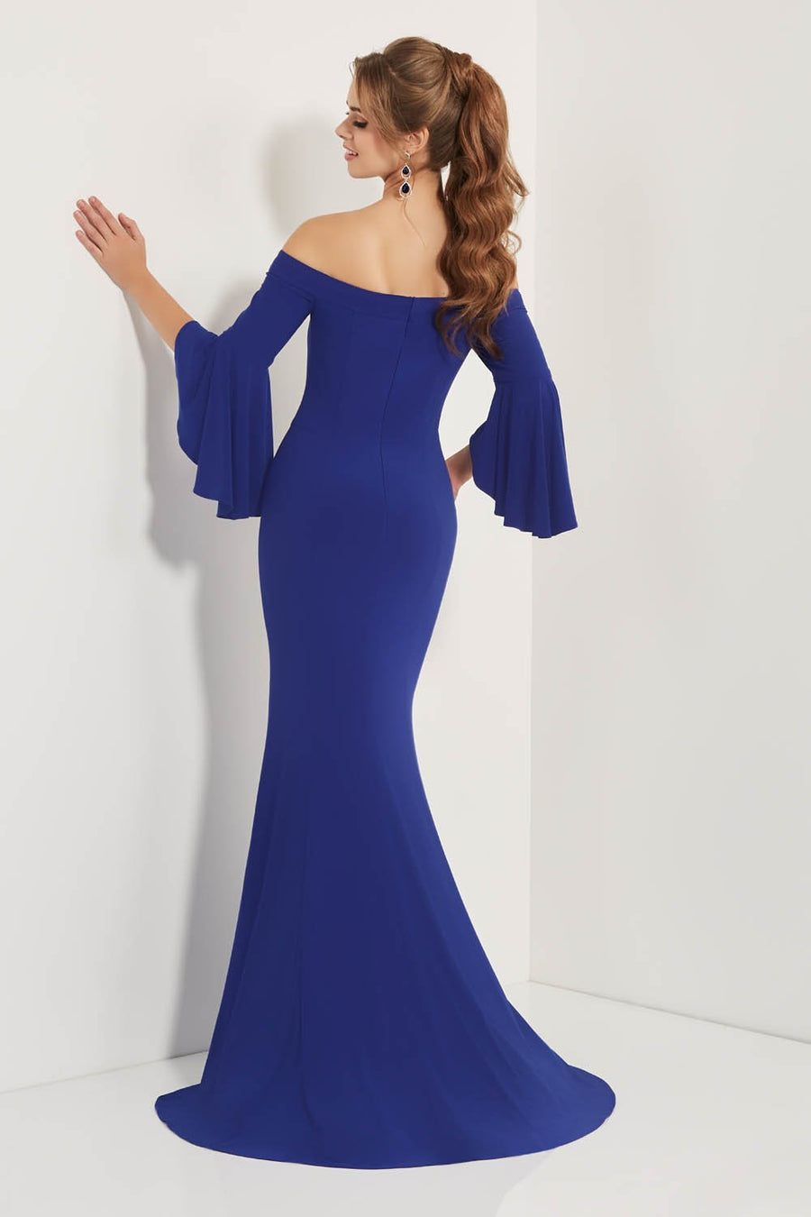 Studio 17 12706 prom dress images.  Studio 17 12706 is available in these colors: Black, Canary, Royal.