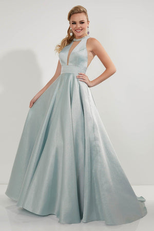 Studio 17 12707 prom dress images.  Studio 17 12707 is available in these colors: Latte, Mint, Pink.