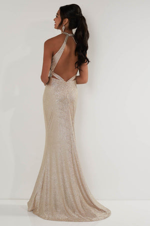 Studio 17 12709 prom dress images.  Studio 17 12709 is available in these colors: Gold, Gunmetal.