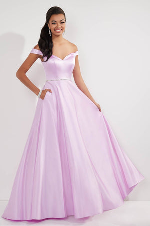 Studio 17 12710 prom dress images.  Studio 17 12710 is available in these colors: Emerald, Lilac, Red.