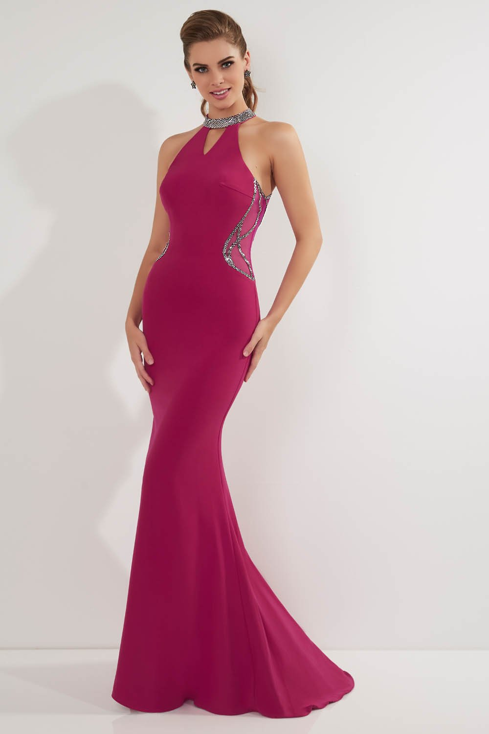 Studio 17 12711 prom dress images.  Studio 17 12711 is available in these colors: Rosewood, Royal.