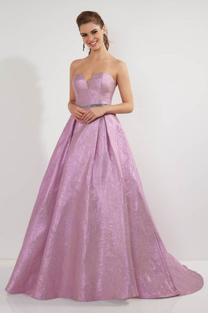 Studio 17 12714 prom dress images.  Studio 17 12714 is available in these colors: Blue Silver, Pink Gold.