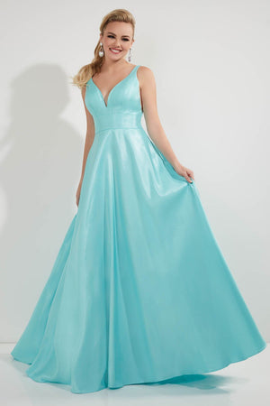 Studio 17 12722 prom dress images.  Studio 17 12722 is available in these colors: Aqua, Lemon, Pink.
