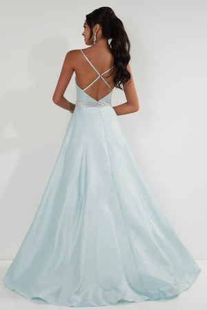 Studio 17 12726 prom dress images.  Studio 17 12726 is available in these colors: Aqua, Cream, Orchid.