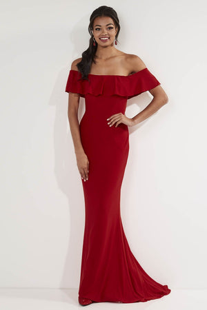 Studio 17 12727 prom dress images.  Studio 17 12727 is available in these colors: Black, Red, Royal.