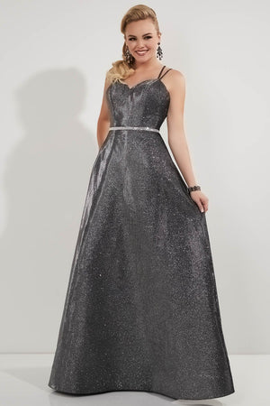 Studio 17 12729 prom dress images.  Studio 17 12729 is available in these colors: Gold, Gunmetal, Pink.