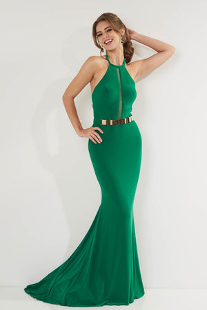 Studio 17 12732 prom dress images.  Studio 17 12732 is available in these colors: Black, Emerald, Red.
