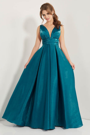 Studio 17 12735 prom dress images.  Studio 17 12735 is available in these colors: Gold, Teal.