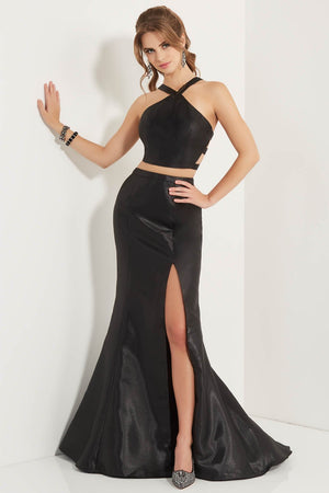 Studio 17 12739 prom dress images.  Studio 17 12739 is available in these colors: Black, Hot Pink, Sky Blue.
