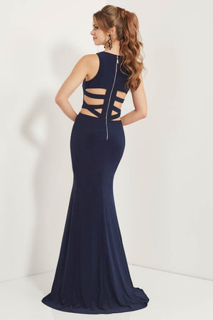 Studio 17 12740 prom dress images.  Studio 17 12740 is available in these colors: Navy, Silver.