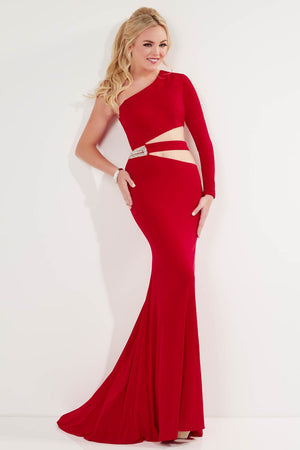 Studio 17 12743 prom dress images.  Studio 17 12743 is available in these colors: Black, Electric Blue, Red.