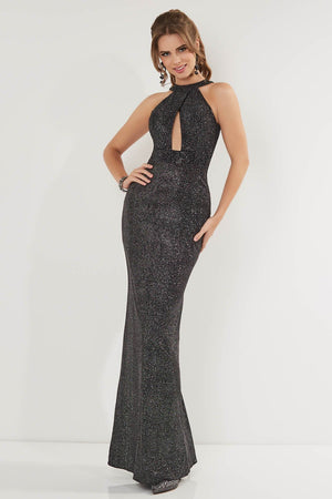 Studio 17 12744 prom dress images.  Studio 17 12744 is available in these colors: Gunmetal, Wine.