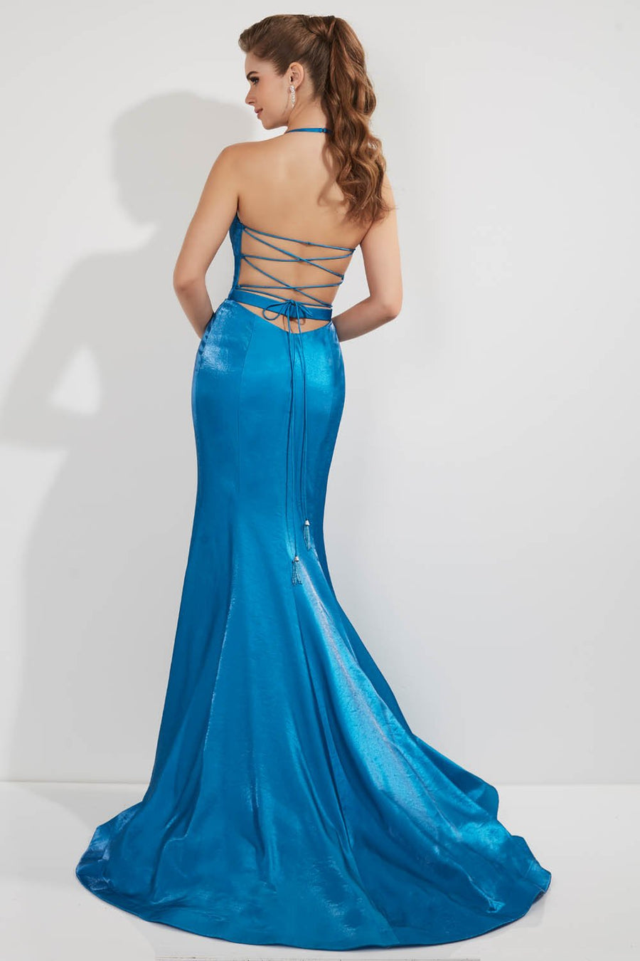 Studio 17 12746 prom dress images.  Studio 17 12746 is available in these colors: Canary, Ocean, Purple, Red.