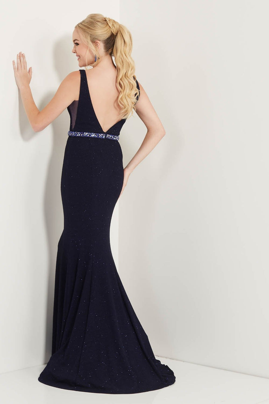 Studio 17 12751 prom dress images.  Studio 17 12751 is available in these colors: Magenta, Navy.