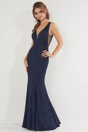 Studio 17 12752 prom dress images.  Studio 17 12752 is available in these colors: Navy, Wine.