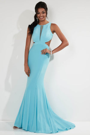 Studio 17 12753 prom dress images.  Studio 17 12753 is available in these colors: Black, Indigo, Sky Blue, Watermelon.
