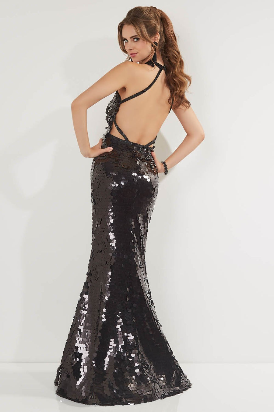 Studio 17 12757 prom dress images.  Studio 17 12757 is available in these colors: Black, Red, Royal.