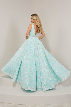 Tiffany 16325 prom dress images.  Tiffany 16325 is available in these colors: Pale Blue, Pale Mint, Pale Pink.
