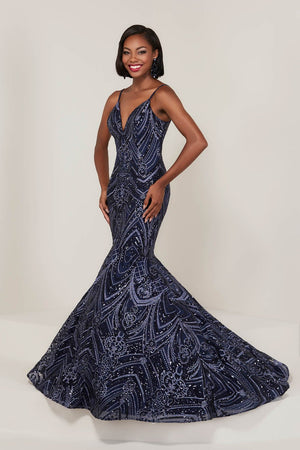 Tiffany 16326 prom dress images.  Tiffany 16326 is available in these colors: Ivory Nude, Navy Navy, Rose Pink.