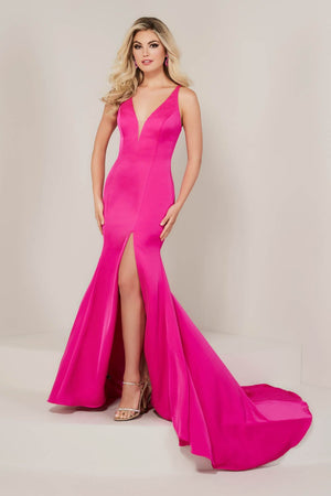 Tiffany 16328 prom dress images.  Tiffany 16328 is available in these colors: Barbie Pink, Black, Royal.