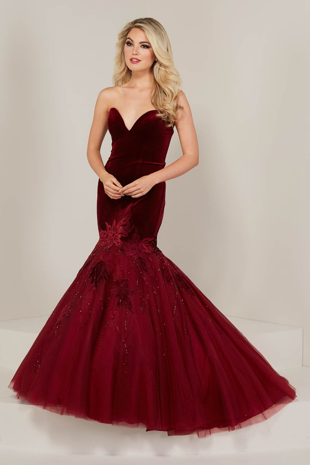 Tiffany 16330 prom dress images.  Tiffany 16330 is available in these colors: Black, Teal, Wine.
