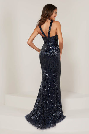 Tiffany 16331 prom dress images.  Tiffany 16331 is available in these colors: Navy, Red, Rose Gold.