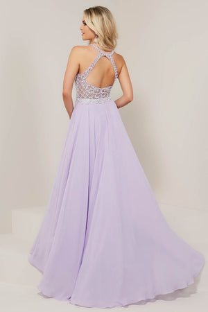 Tiffany 16337 prom dress images.  Tiffany 16337 is available in these colors: Ivory, Lilac, Nude Black, Sunshine.