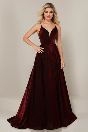 Tiffany 16345 prom dress images.  Tiffany 16345 is available in these colors: Rose, Royal, Wine.