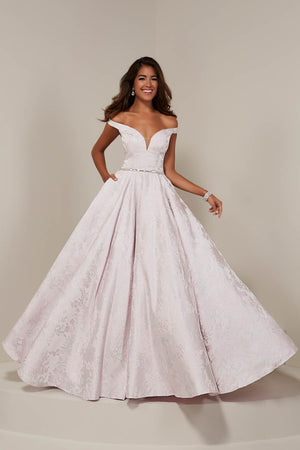 Tiffany 16358 prom dress images.  Tiffany 16358 is available in these colors: Blue Floral, Pink Floral.