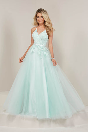 Tiffany 16362 prom dress images.  Tiffany 16362 is available in these colors: Aqua, Emerald, Pink.