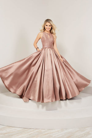Tiffany 16364 prom dress images.  Tiffany 16364 is available in these colors: Black, Red, Taupe, Teal.