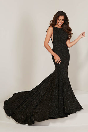 Tiffany 16368 prom dress images.  Tiffany 16368 is available in these colors: Black Gold, Navy, Wine.