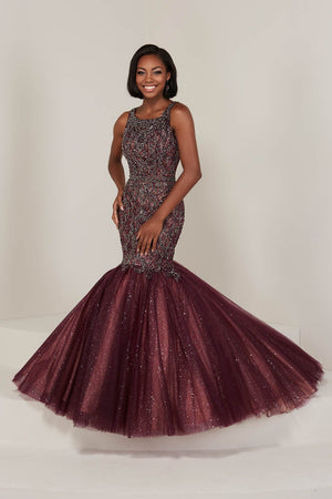 Tiffany 16370 prom dress images.  Tiffany 16370 is available in these colors: Gunmetal Nude, Mahogany Nude, Sky Nude.