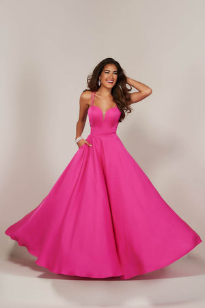 Tiffany 16371 prom dress images.  Tiffany 16371 is available in these colors: Barbie Pink, Emerald, Ivory.