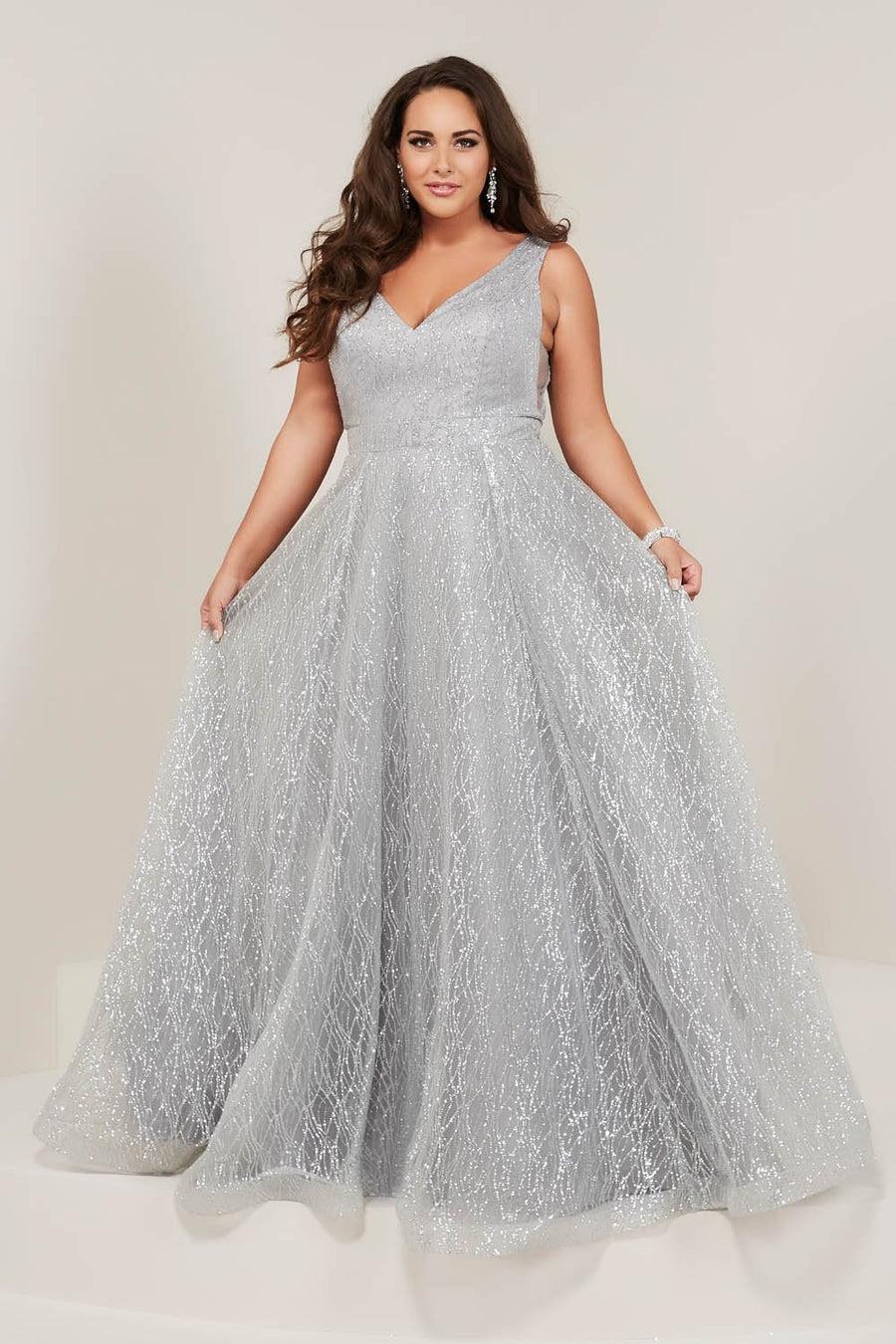 Tiffany 16373 prom dress images.  Tiffany 16373 is available in these colors: Black, Rose Gold, Silver, Wine.