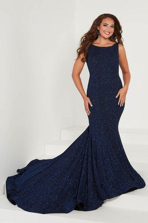 Tiffany 16377 prom dress images.  Tiffany 16377 is available in these colors: Black Gold, Navy, Wine.