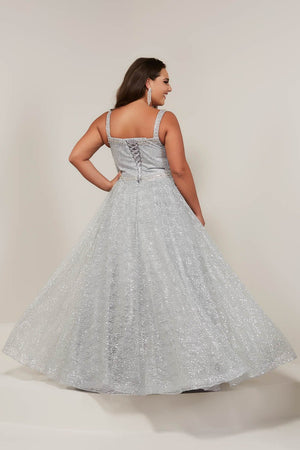 Tiffany 16381 prom dress images.  Tiffany 16381 is available in these colors: Black, Rose Gold, Silver.