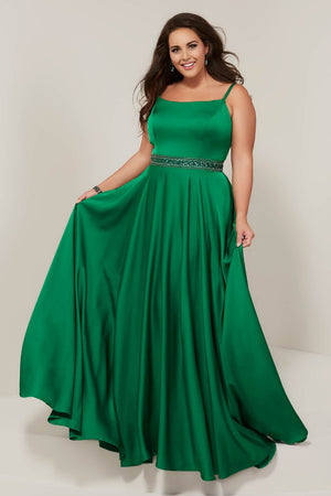 Tiffany 16383 prom dress images.  Tiffany 16383 is available in these colors: Emerald, Papaya, Royal.