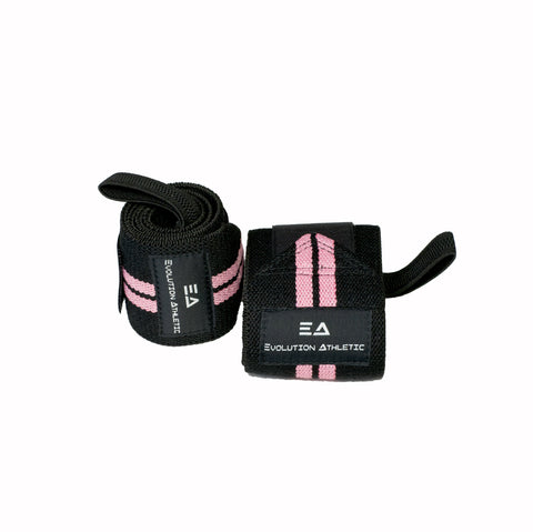 EA Wrist wraps Pink on Black