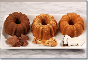 Three-Pack of 5 oz Rum Cakes YOU CHOOSE FLAVORS!