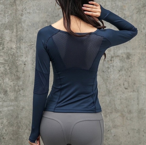 Long sleeve fitness shirt