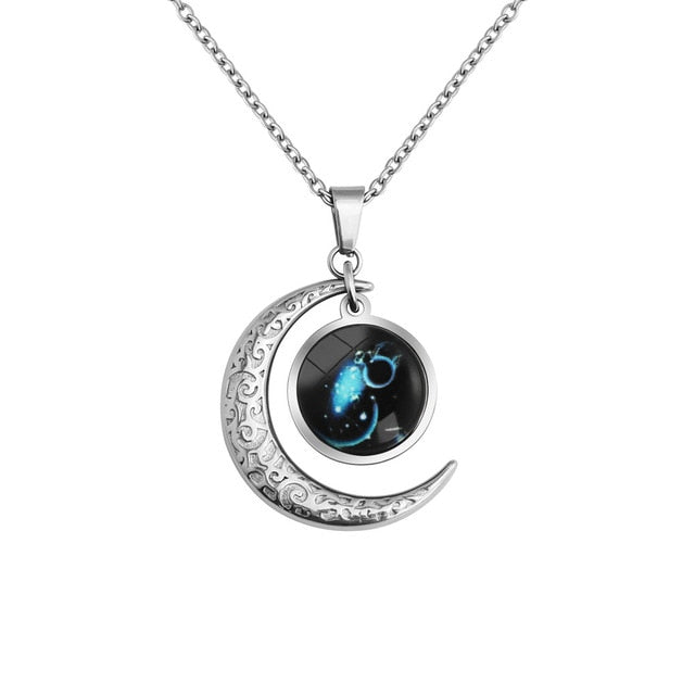 Aquarius(Jan. 20 - Feb 18) - Luminous Constellation necklace