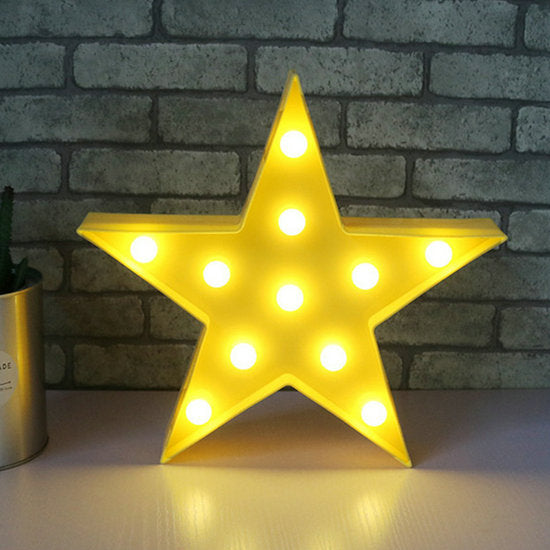 Lovely Cloud Star Moon LED 3D Light Night Light
