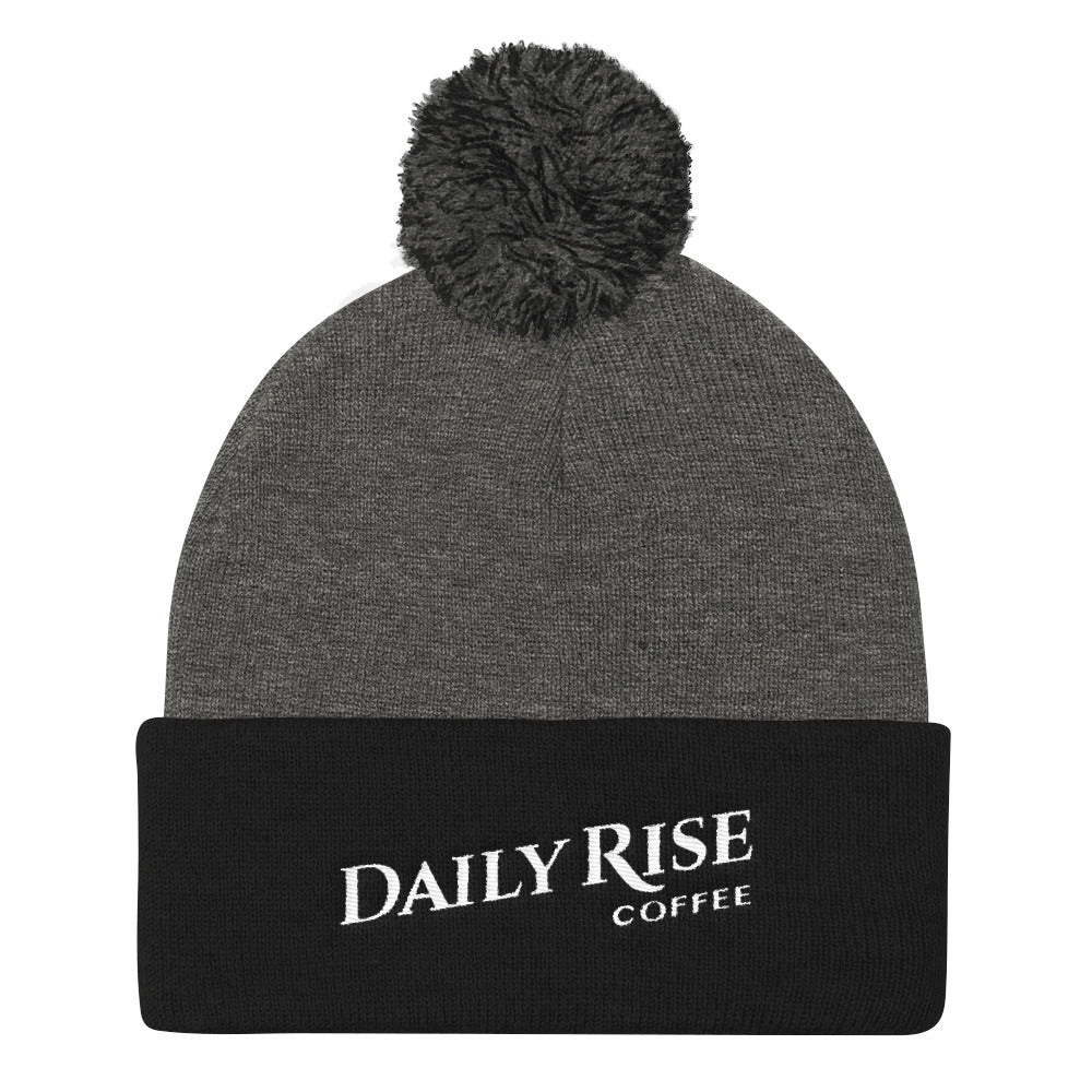 DRC Pom Pom Beanie – Dark Heather Grey/Black