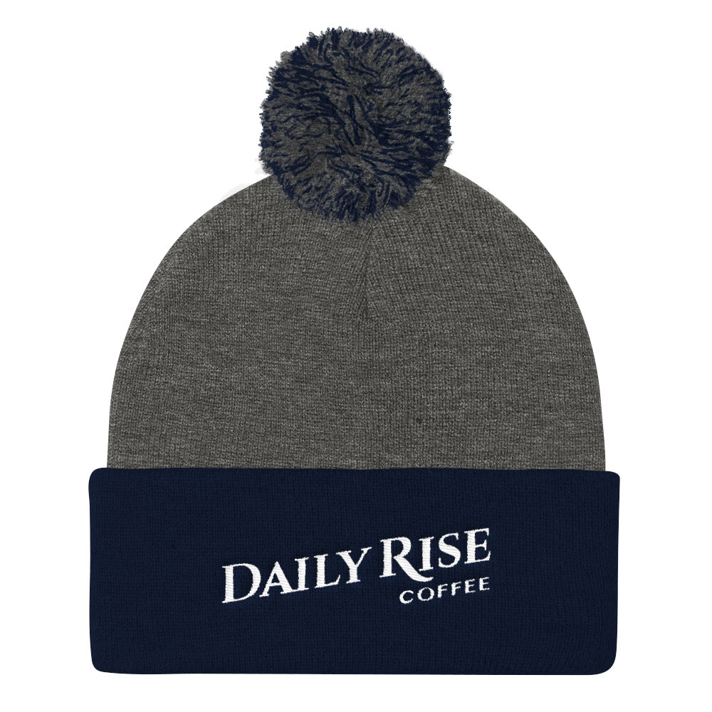 DRC Pom Pom Beanie – Dark Heather Grey/Navy